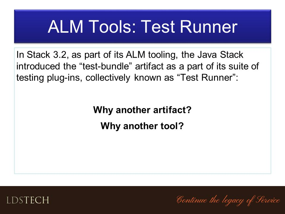 ALM Tools: Test Runner