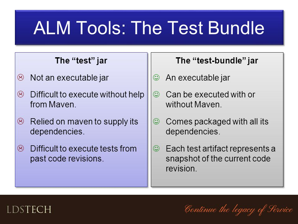 ALM Tools: The Test Bundle