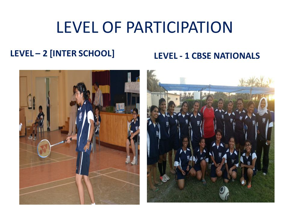 LEVEL OF PARTICIPATION