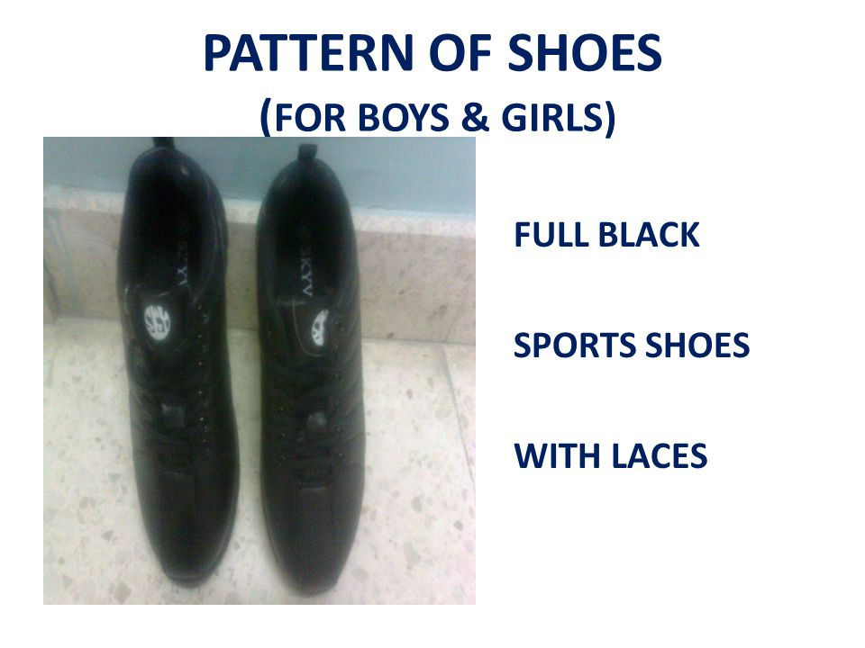 PATTERN OF SHOES (FOR BOYS & GIRLS)