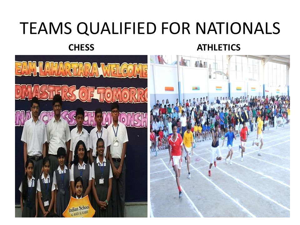 TEAMS QUALIFIED FOR NATIONALS