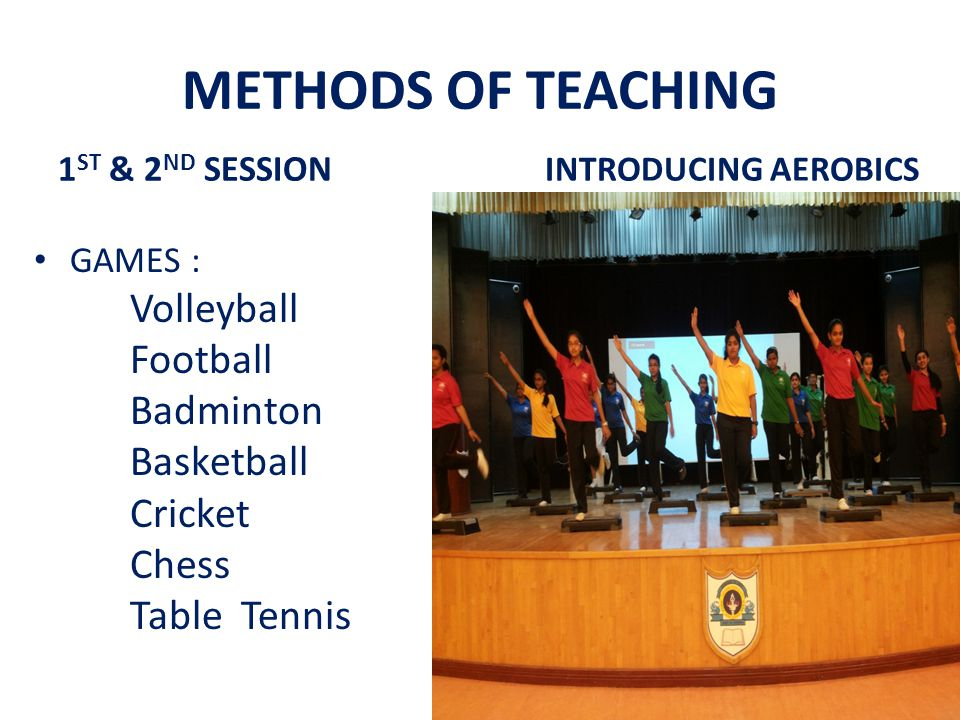 METHODS OF TEACHING Volleyball Football Badminton Basketball Cricket