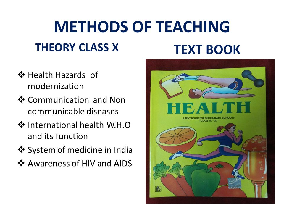 METHODS OF TEACHING TEXT BOOK THEORY CLASS X