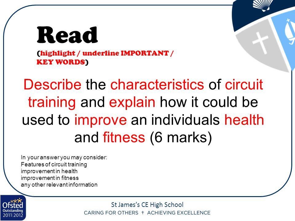 Read (highlight / underline IMPORTANT / KEY WORDS)