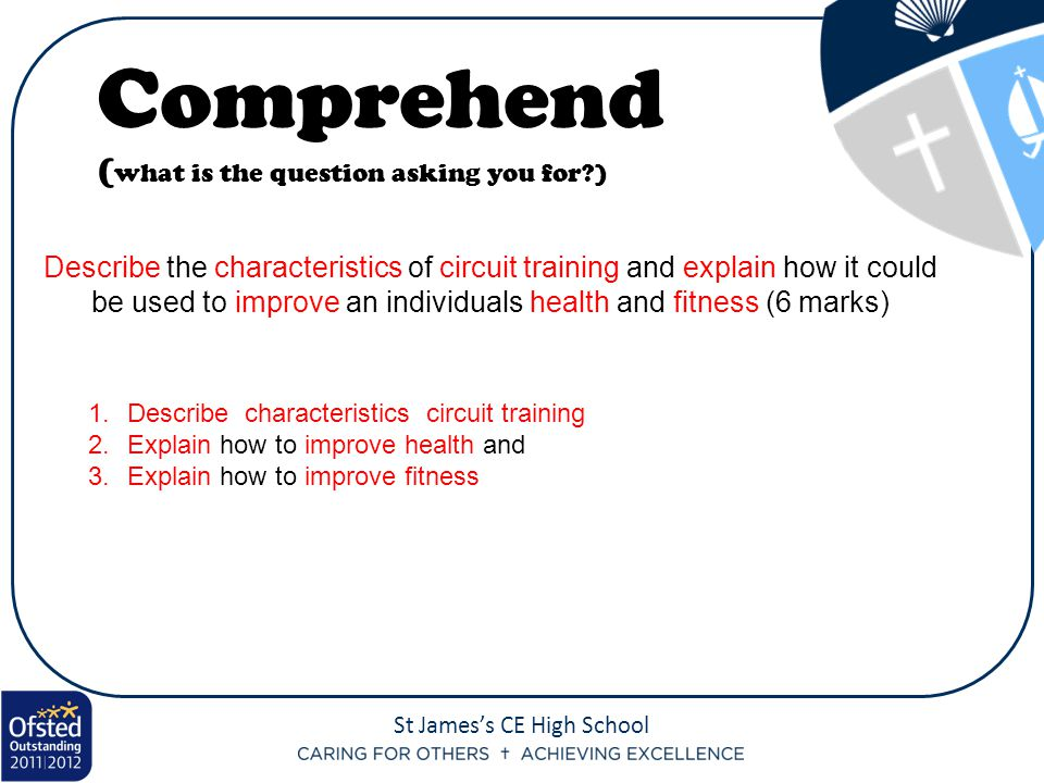 Comprehend (what is the question asking you for )