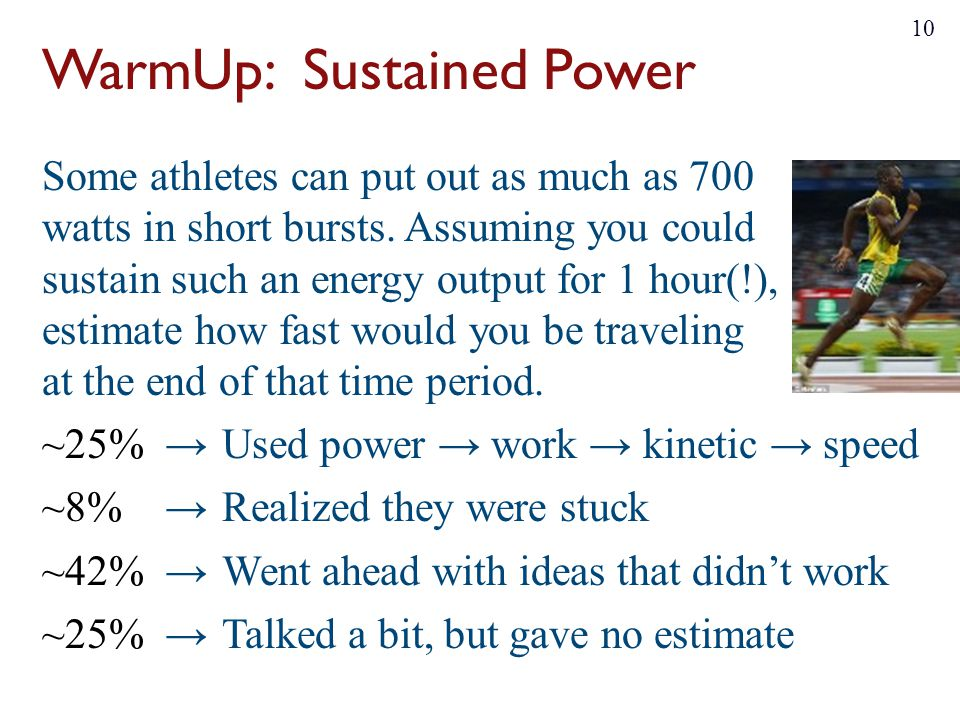 WarmUp: Sustained Power