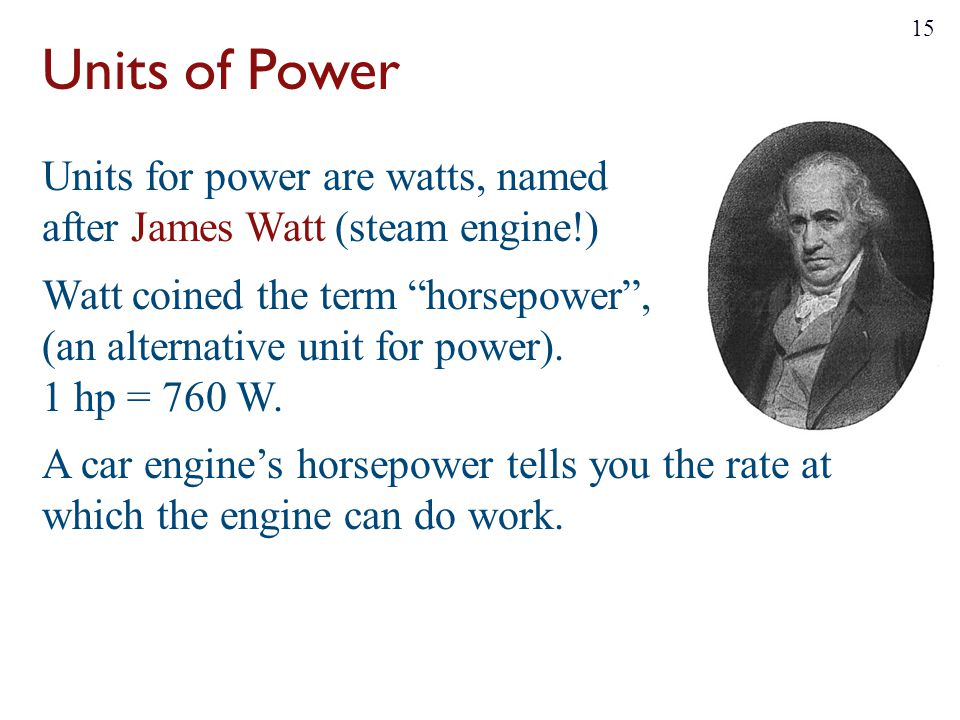 Units of Power