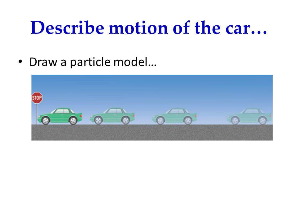 Describe motion of the car…