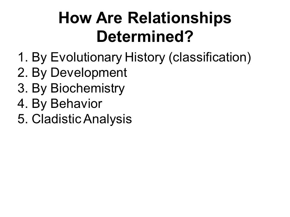 How Are Relationships Determined