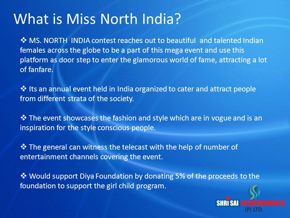 What is Miss North India