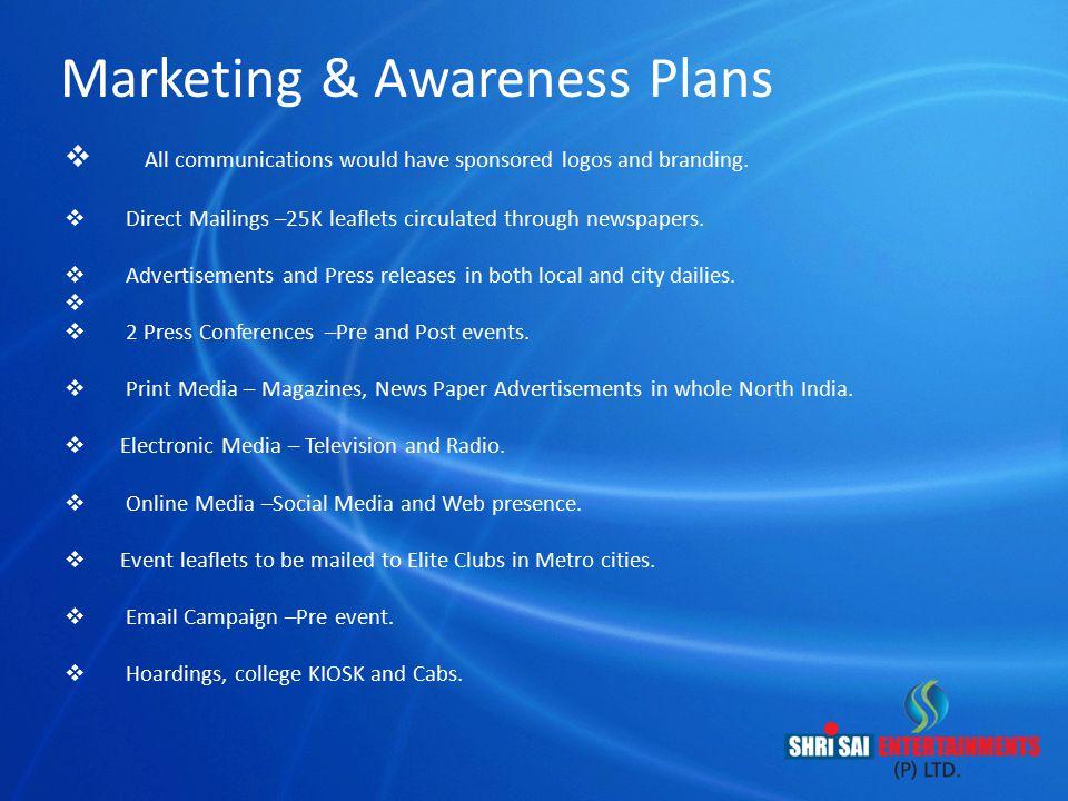 Marketing & Awareness Plans