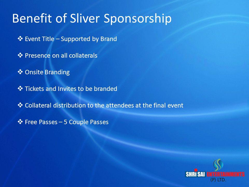 Benefit of Sliver Sponsorship