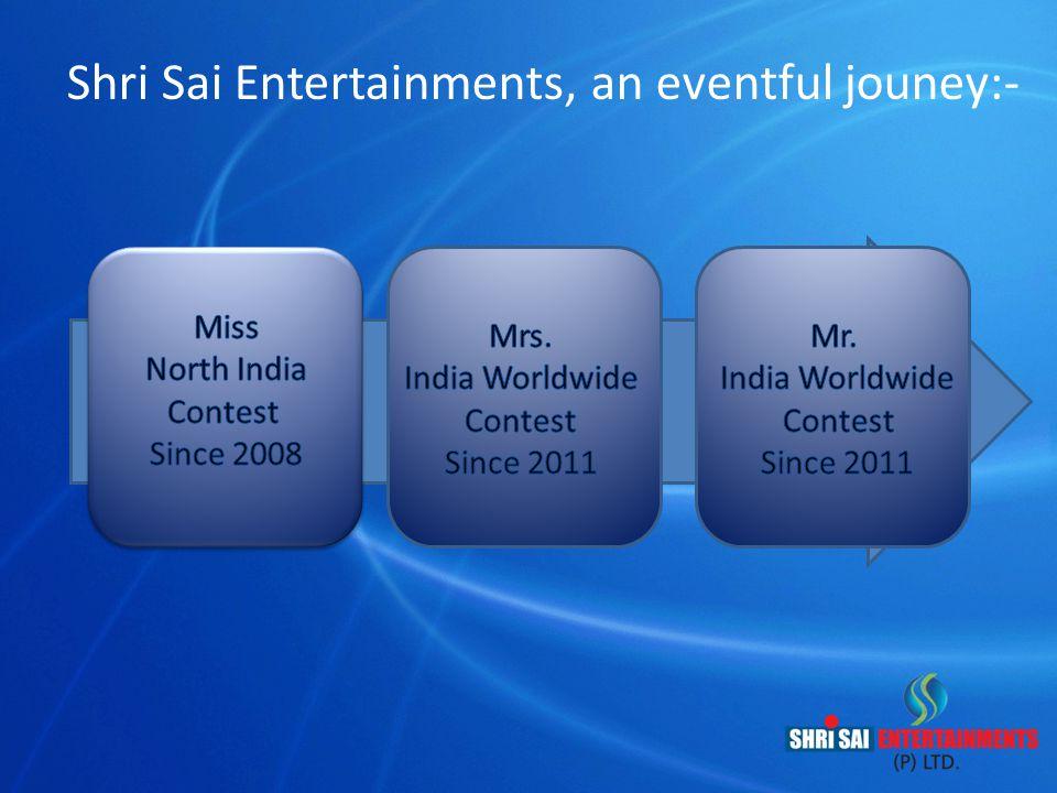 Shri Sai Entertainments, an eventful jouney:-