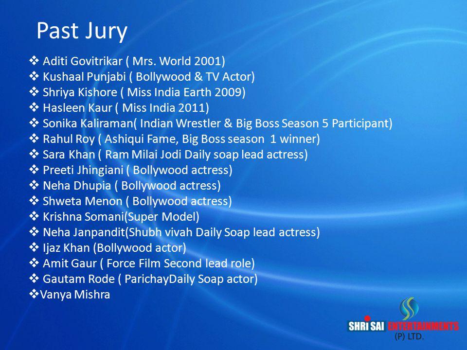 Past Jury Aditi Govitrikar ( Mrs. World 2001)