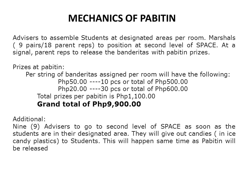 MECHANICS OF PABITIN