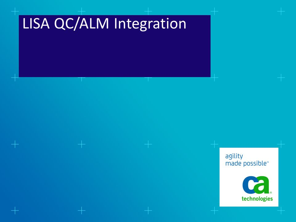 LISA QC/ALM Integration