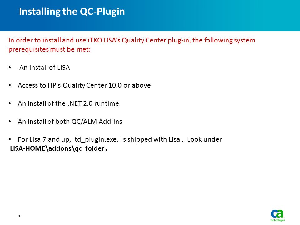 Installing the QC-Plugin