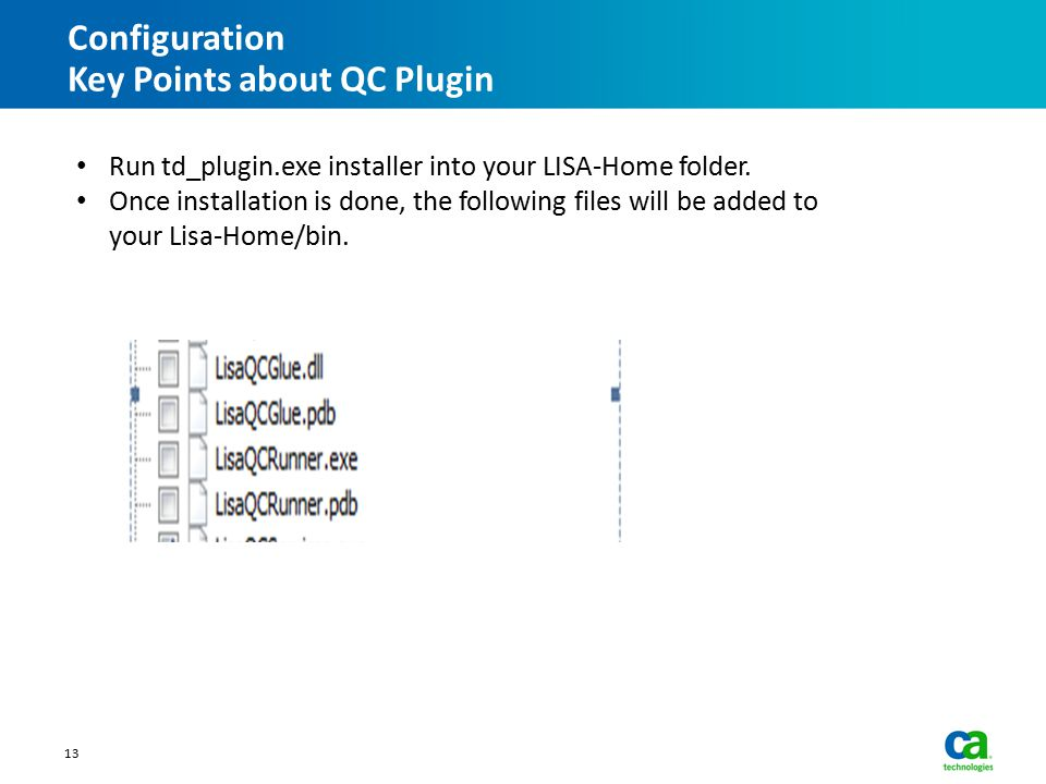 Configuration Key Points about QC Plugin