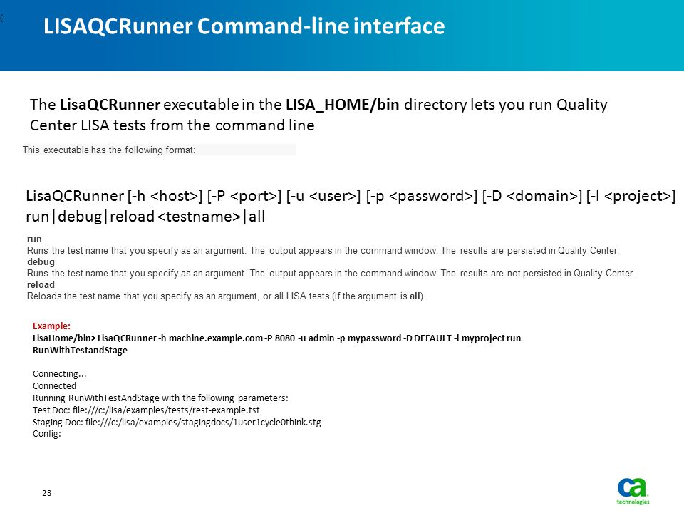 LISAQCRunner Command-line interface