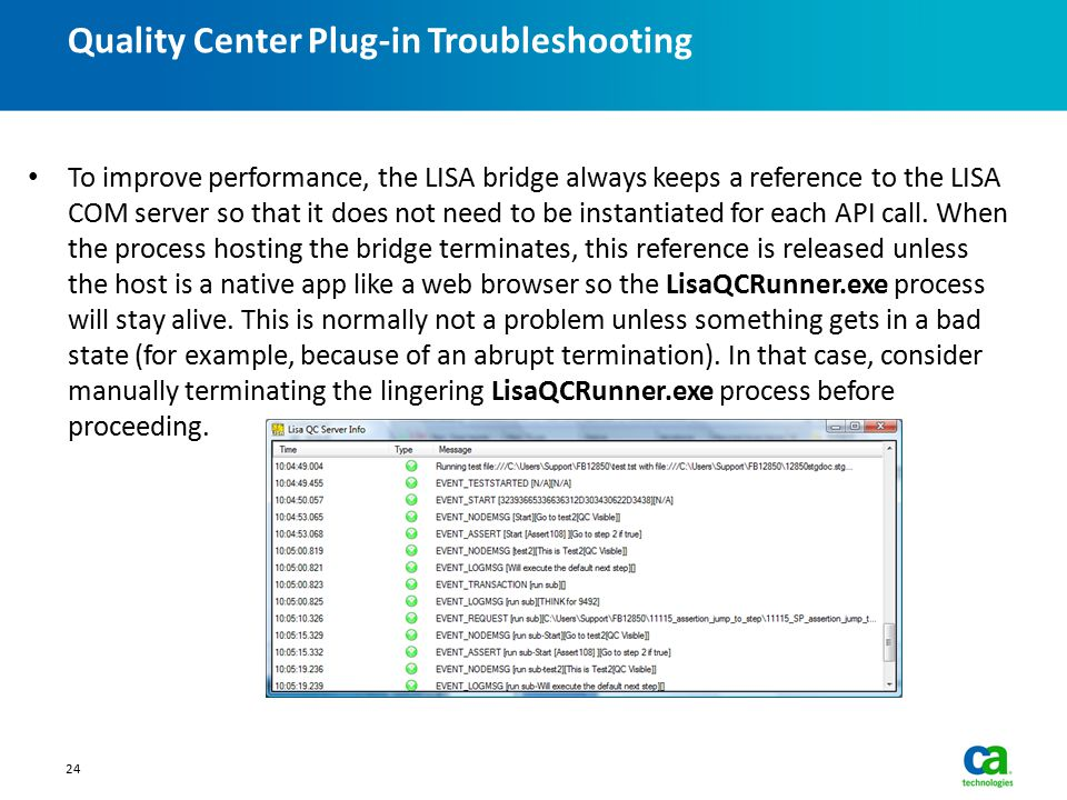 Quality Center Plug-in Troubleshooting