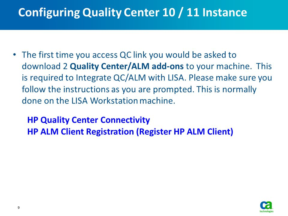 Configuring Quality Center 10 / 11 Instance