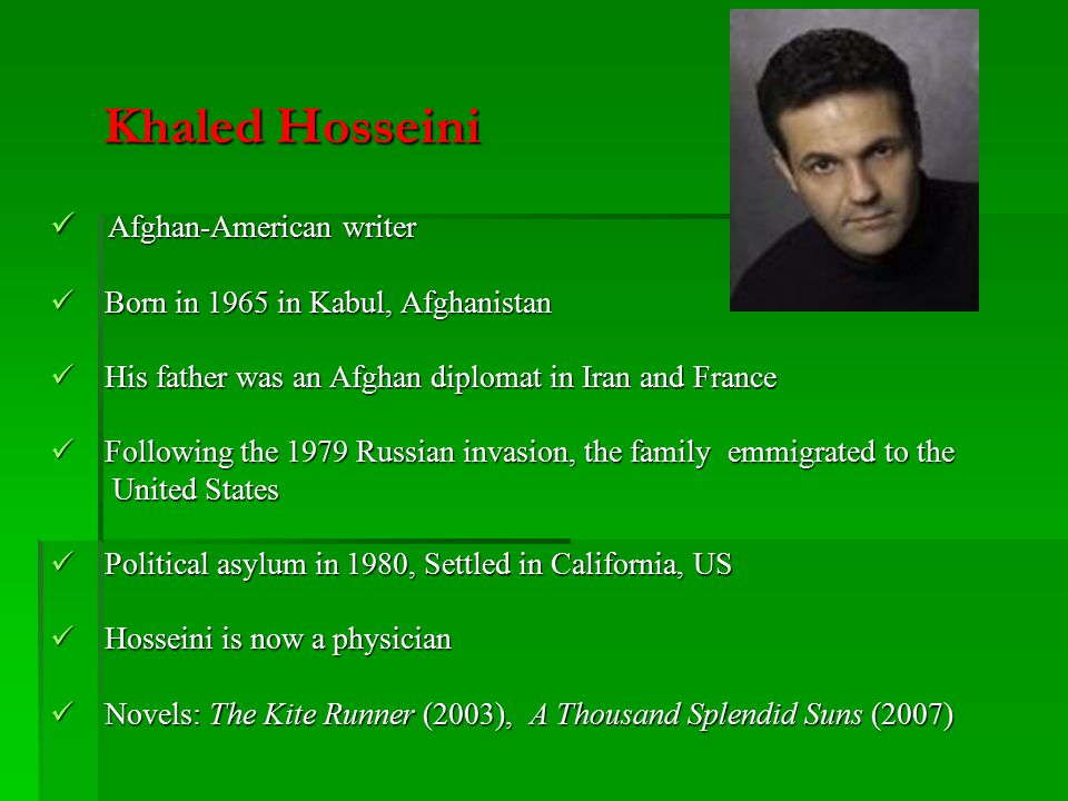 the kite runner by khaled hosseini historical political and  khaled hosseini afghan american writer
