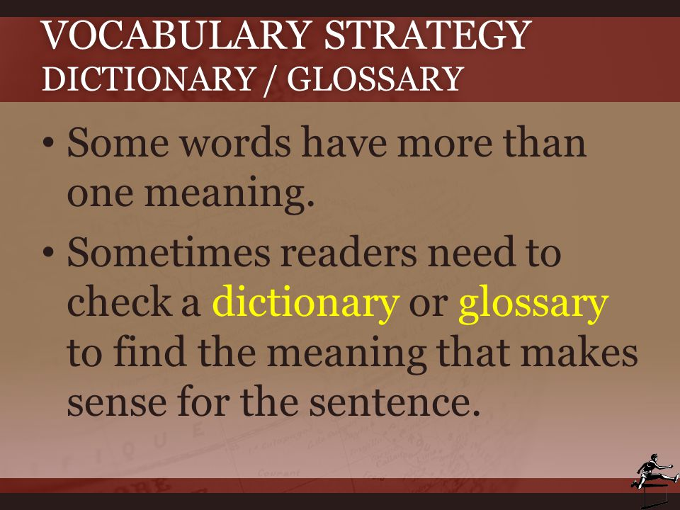 Vocabulary Strategy Dictionary / Glossary