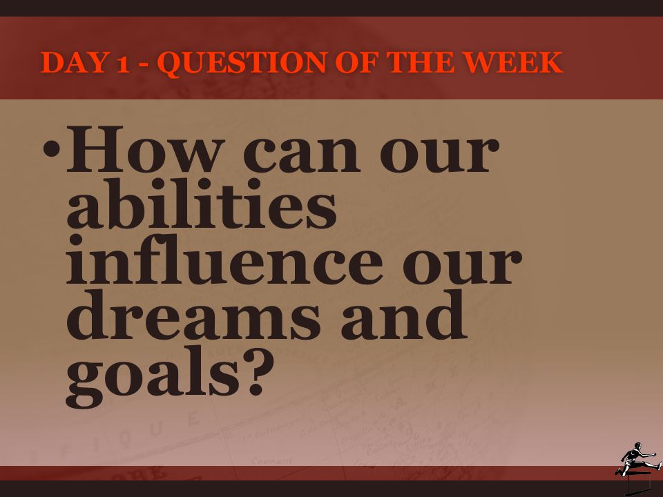 Day 1 - Question of the Week