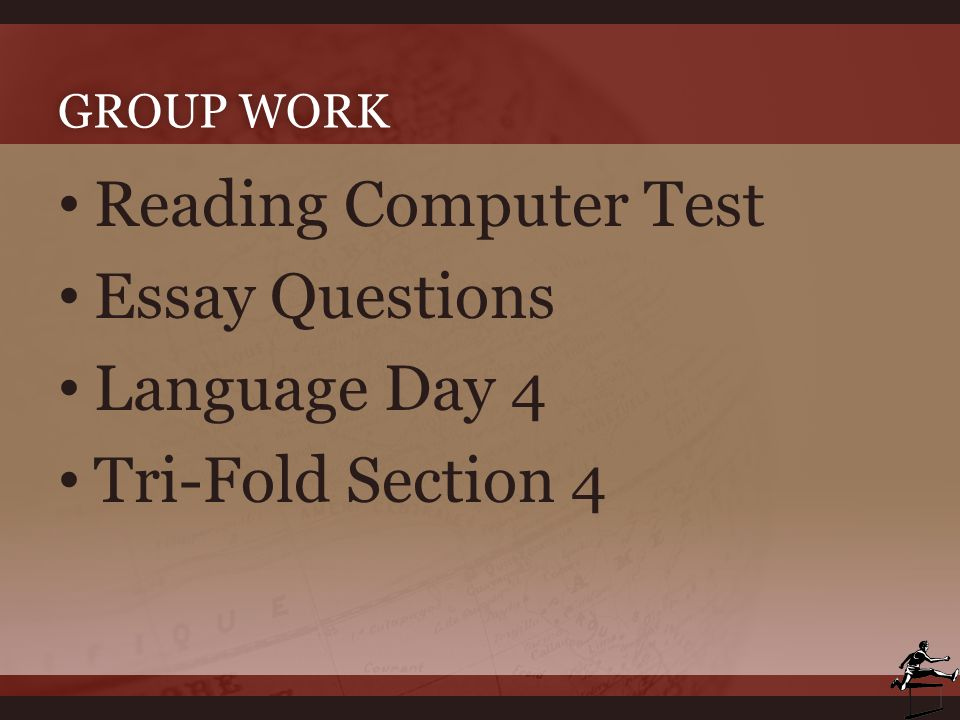 Reading Computer Test Essay Questions Language Day 4