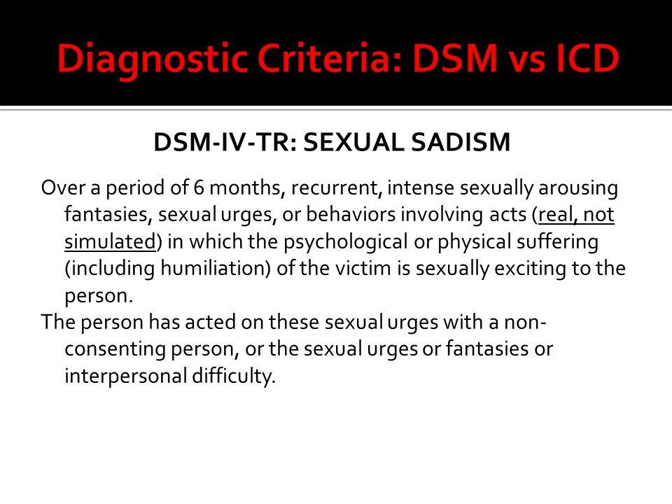 Diagnostic Criteria: DSM vs ICD