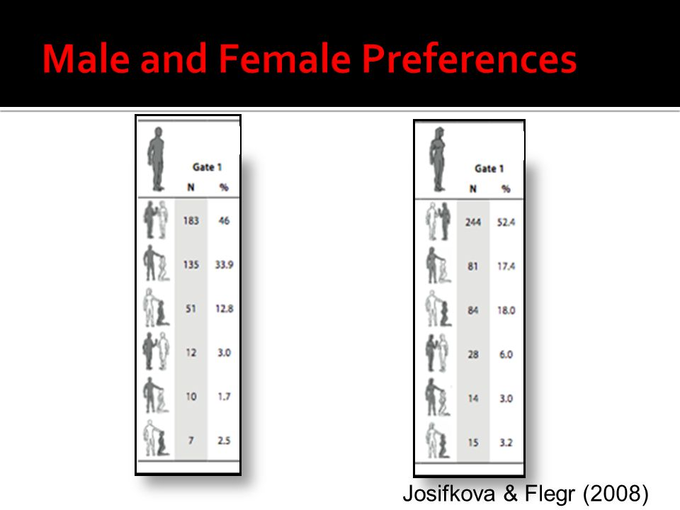 Male and Female Preferences