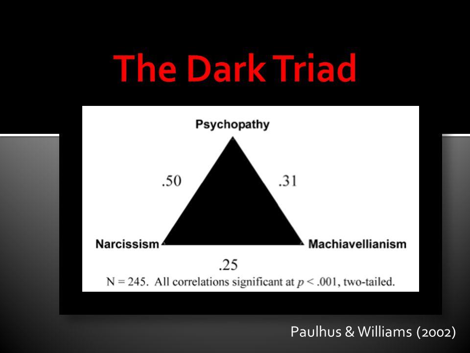 The Dark Triad Paulhus & Williams (2002)