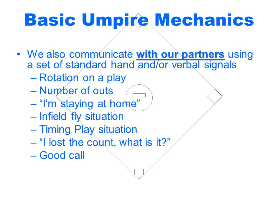 Basic Umpire Mechanics
