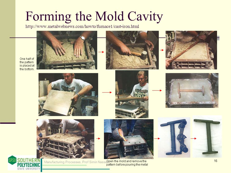 Forming the Mold Cavity http://www. metalwebnews