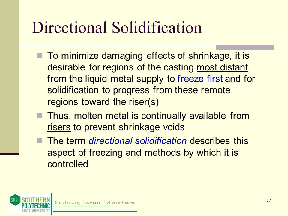 Directional Solidification