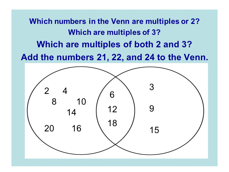 Which are multiples of both 2 and 3