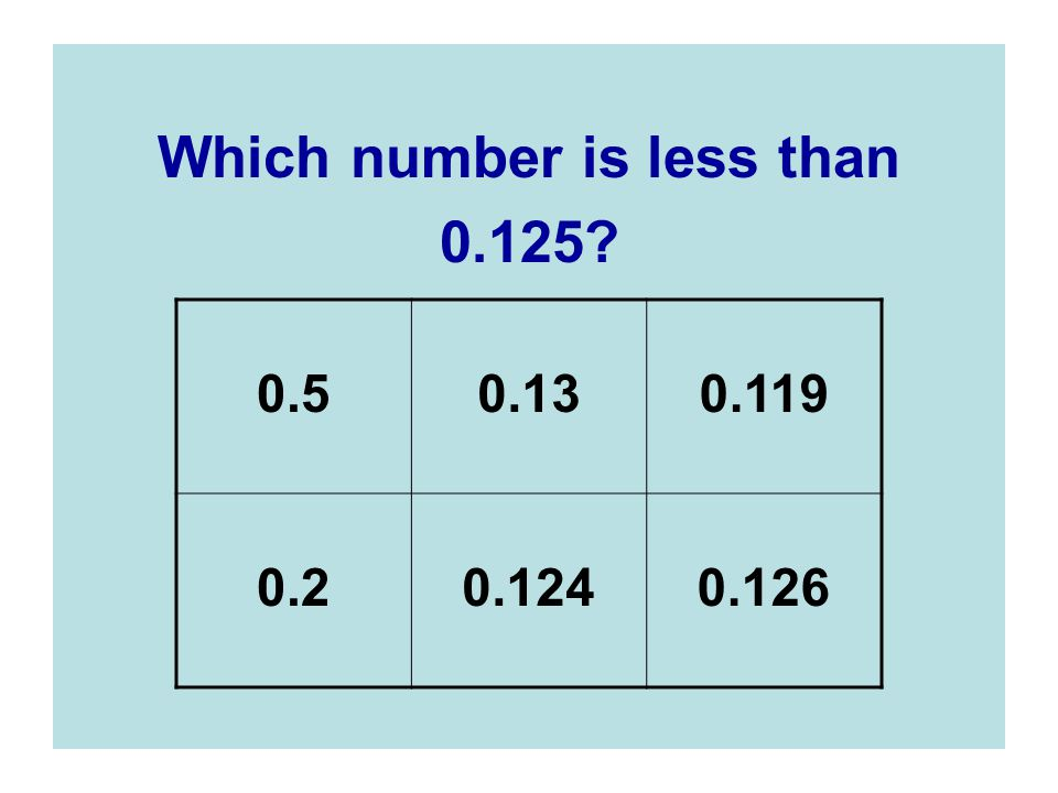 Which number is less than