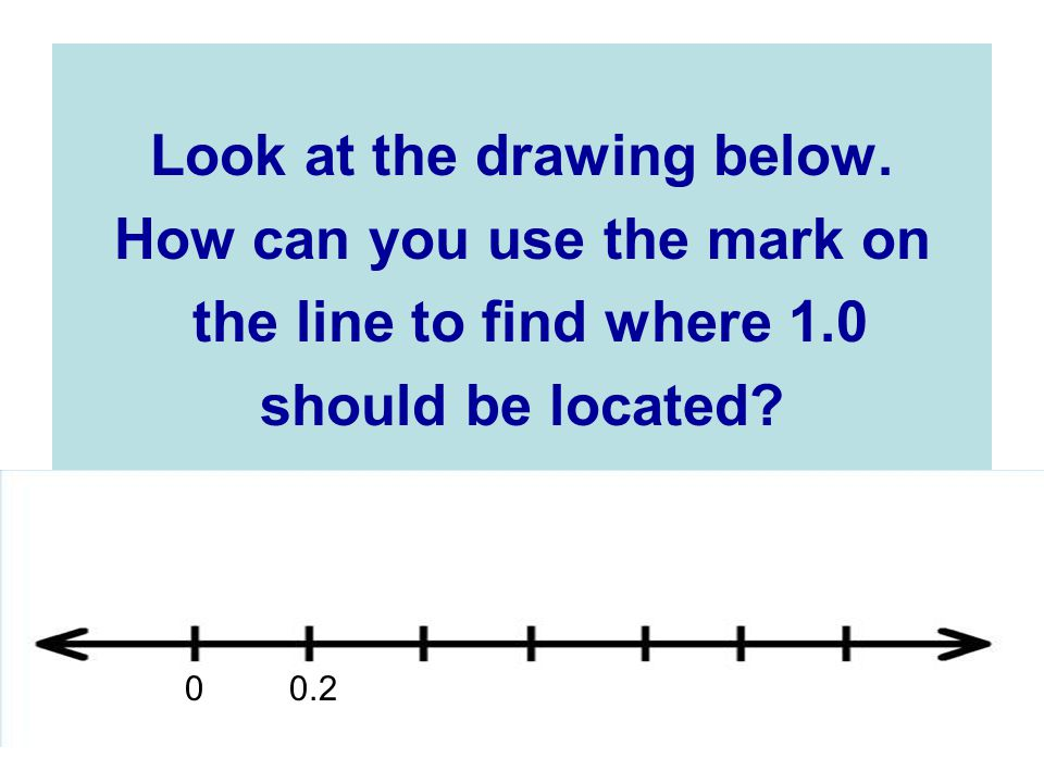 Look at the drawing below. How can you use the mark on
