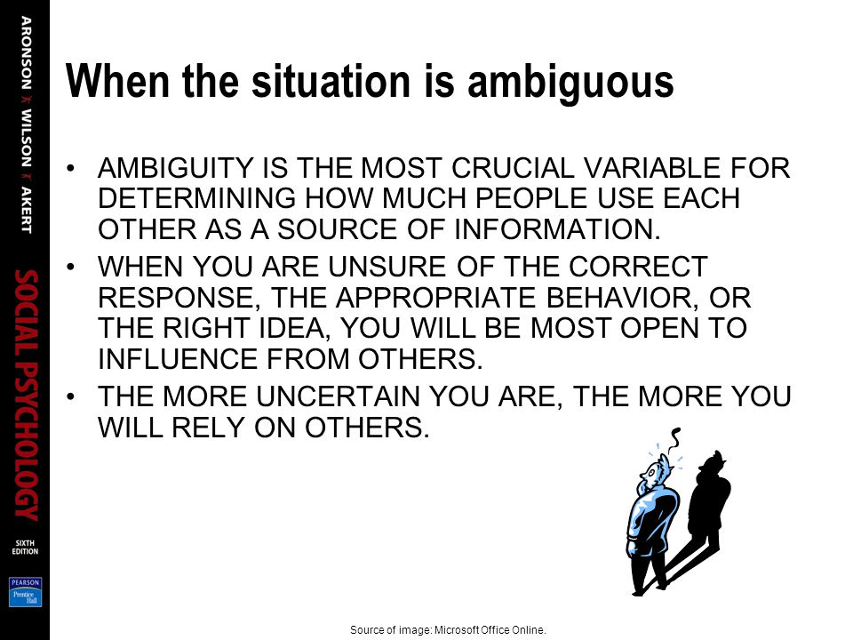 When the situation is ambiguous