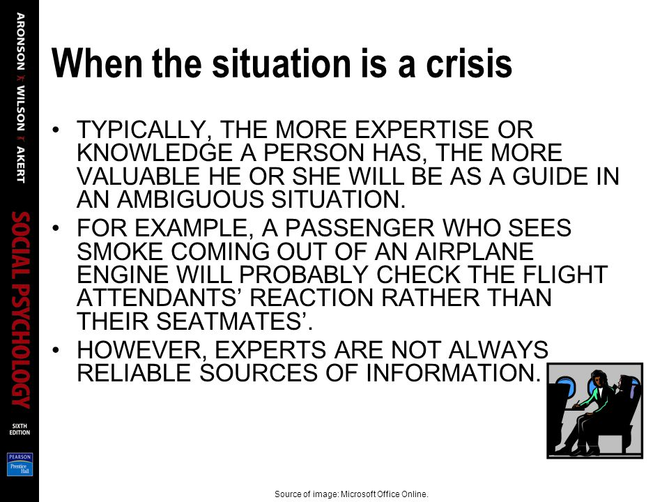 When the situation is a crisis