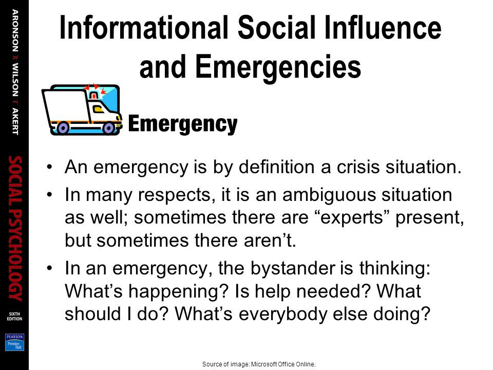 Informational Social Influence and Emergencies