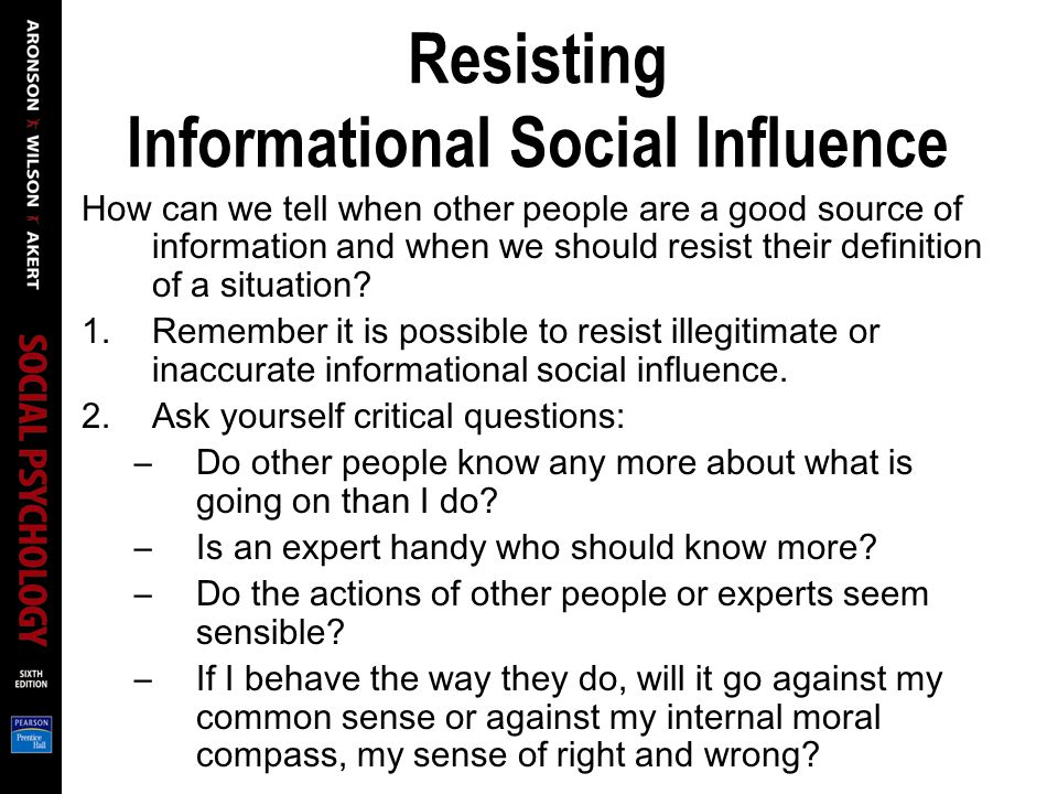 Resisting Informational Social Influence