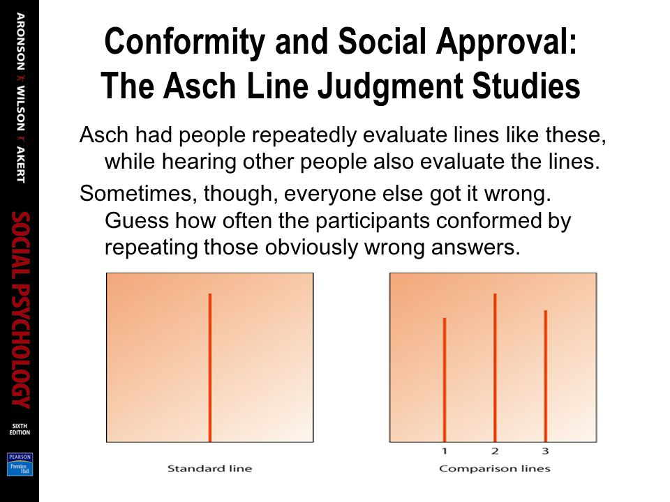 Conformity and Social Approval: The Asch Line Judgment Studies