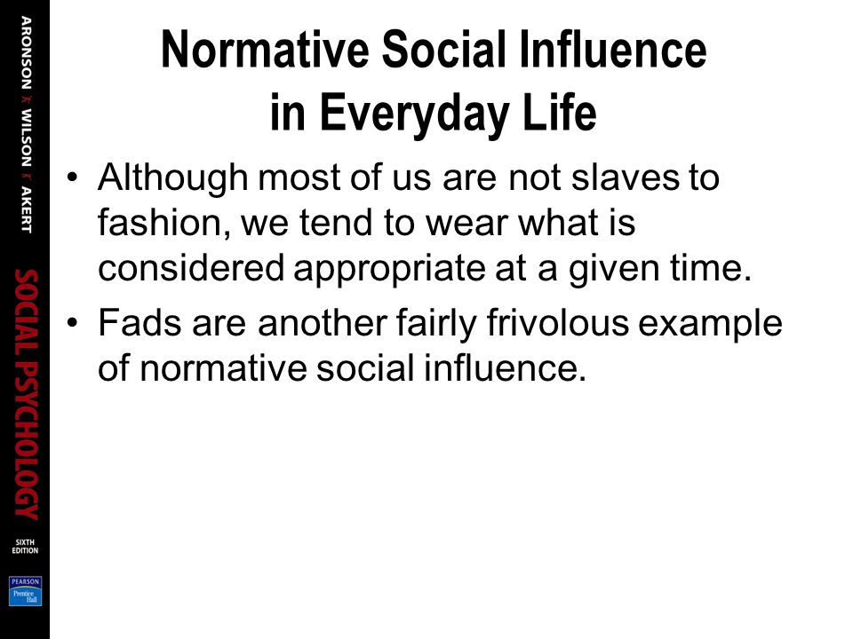 Normative Social Influence in Everyday Life