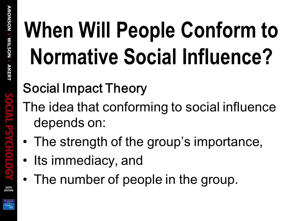 When Will People Conform to Normative Social Influence