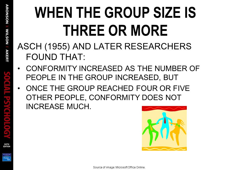 WHEN THE GROUP SIZE IS THREE OR MORE