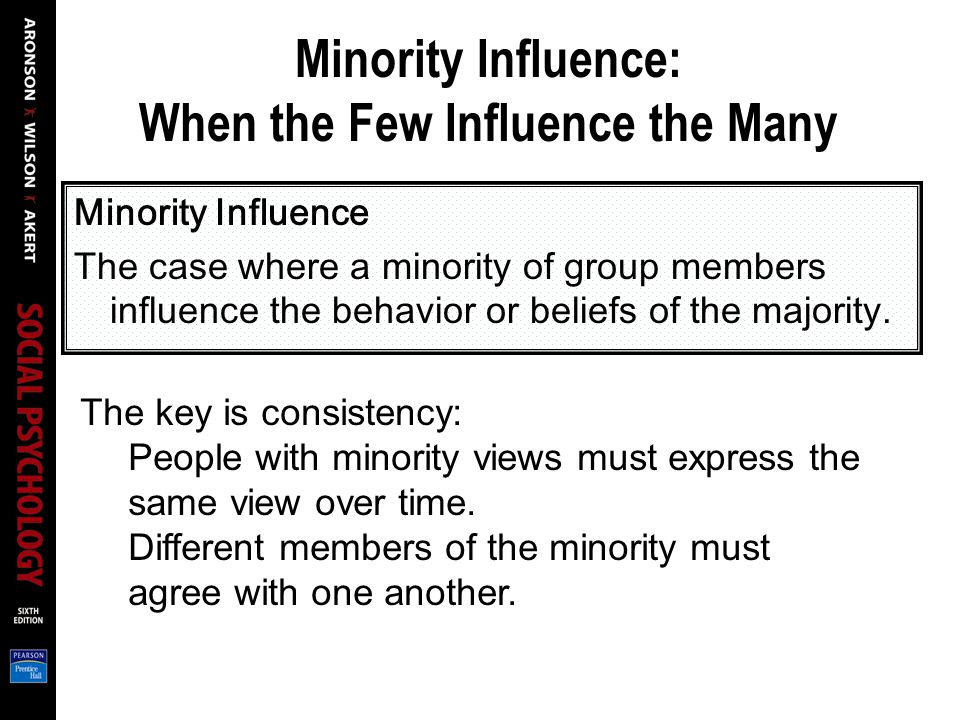 Minority Influence: When the Few Influence the Many