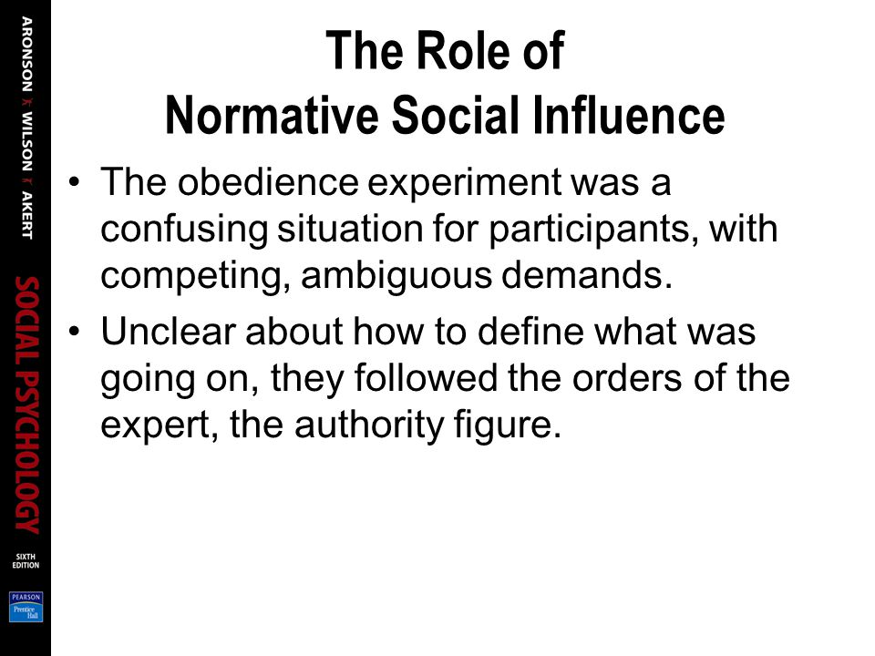 The Role of Normative Social Influence