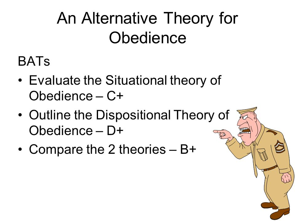 An Alternative Theory for Obedience