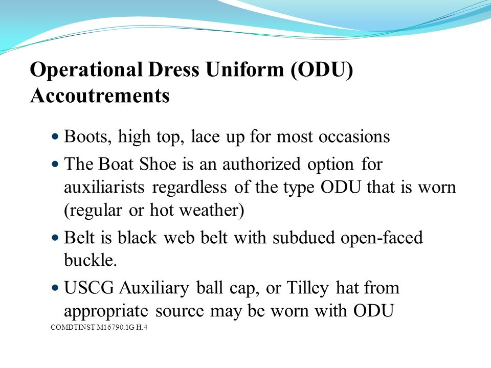 Operational Dress Uniform (ODU) Accoutrements
